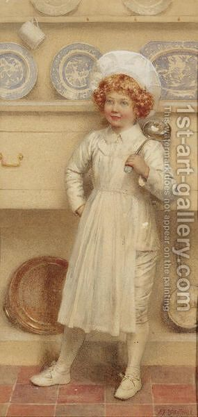 The Little Chef by Edward Frederick Brewtnall - Reproduction Oil Painting