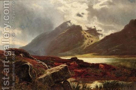 On The Welsh Hills Near Capel Currig by (after) Sidney Richard Percy - Reproduction Oil Painting