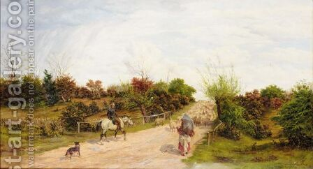 Road In Epping Forest by Basil Bradley - Reproduction Oil Painting