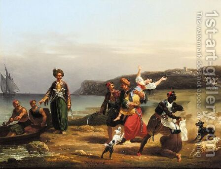 The Kidnap by Hippolyte Lecomte - Reproduction Oil Painting