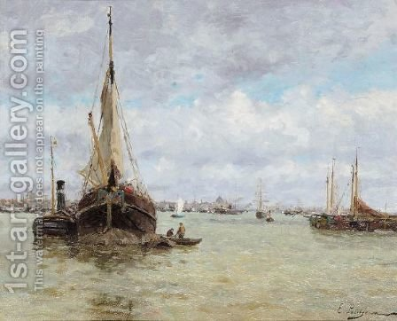 Harbour View by Edmond Marie Petitjean - Reproduction Oil Painting