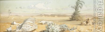 Onthe Desert Floor, East Of Red Sea by Carl Haag - Reproduction Oil Painting
