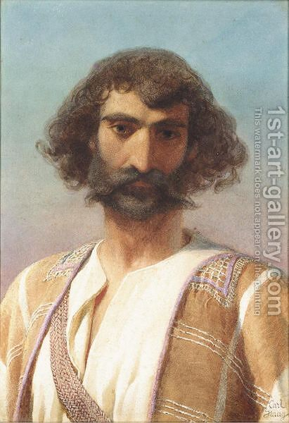 A Persian Hadji by Carl Haag - Reproduction Oil Painting