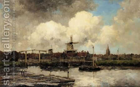 View Of A Dutch Town by Jan van Vlaardingen Couver - Reproduction Oil Painting