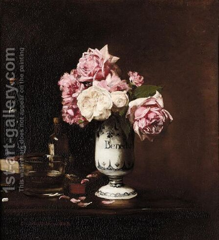 Vase De Fleurs by Edouard Dantan - Reproduction Oil Painting