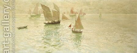 Sailing Boats by Amedee Marcel-Clement - Reproduction Oil Painting