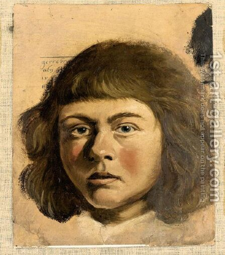 Head Of A Boy by Albert van der Eeckhout - Reproduction Oil Painting