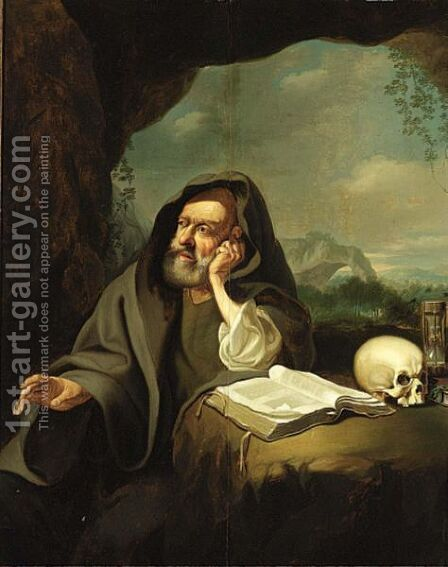 St. Jerome In Penitence by (after) Jacob Toorenvliet - Reproduction Oil Painting