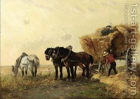 The Hay Harvest by Henry Schouten - Reproduction Oil Painting