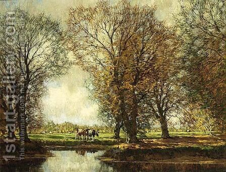 An Autumn Landscape, Vordense Beek by Arnold Marc Gorter - Reproduction Oil Painting