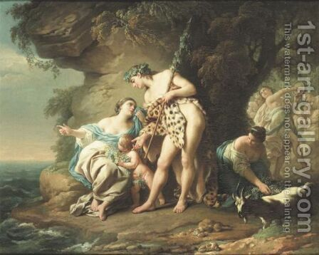 Bacchus Consolant Ariane Abandonnee Par Thesee Louis Jean Francois Lagreneebacchus And Ariane by (after) Louis Lagrenee - Reproduction Oil Painting