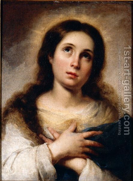 The Virgin by Bartolome Esteban Murillo - Reproduction Oil Painting