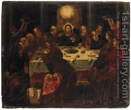 The Last Supper 2 by (after) El Greco (Domenikos Theotokopoulos) - Reproduction Oil Painting