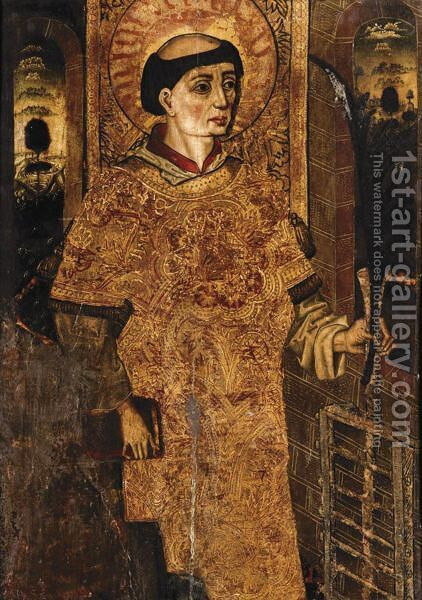 Saint Lawrence by Castilian School - Reproduction Oil Painting