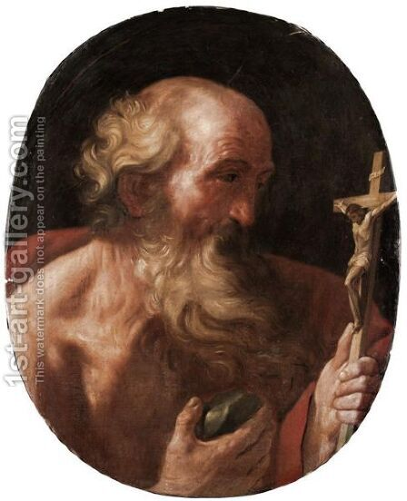 Saint Jerome by (after) Guido Reni - Reproduction Oil Painting