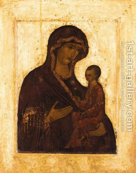 Virgin and child 3 by - Unknown Painter - Reproduction Oil Painting