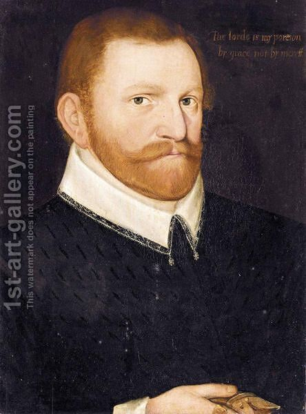 Portrait Of A Gentleman by (after) Hieronymus Custodis - Reproduction Oil Painting