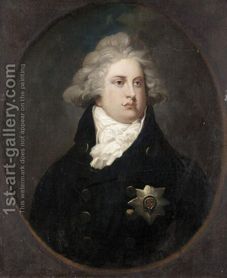 Portrait Of George Iv by (after) Russell, John - Reproduction Oil Painting