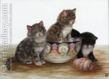 Kittens by Bessie Bamber - Reproduction Oil Painting