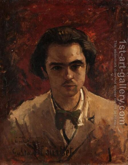 Portrait Of A Gentleman by (after) Courbet, Gustave - Reproduction Oil Painting