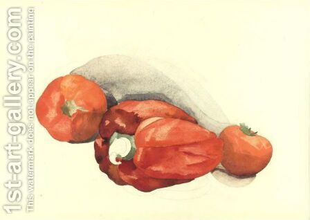 Pepper And Tomatoes by Charles Demuth - Reproduction Oil Painting