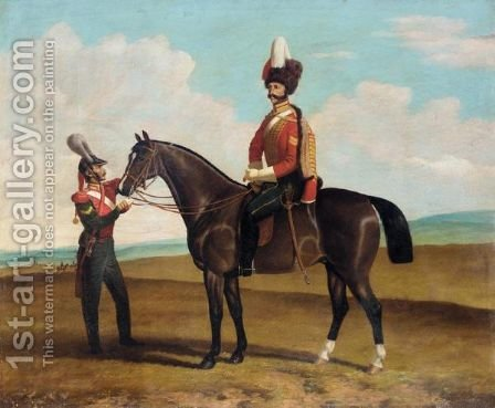 Equestrian Portrait by (after) Bogdan Pavlovich Villevalde - Reproduction Oil Painting
