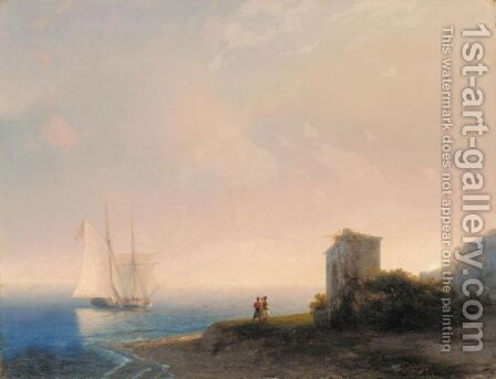 Tartars On The Coast by Ivan Konstantinovich Aivazovsky - Reproduction Oil Painting