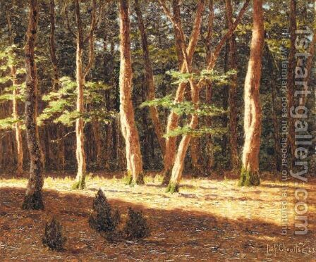 Forest At Sunset by Ivan Fedorovich Choultse - Reproduction Oil Painting