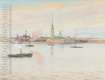 View Of The Admiralty, St. Petersburg by Albert Nikolaevich Benois - Reproduction Oil Painting