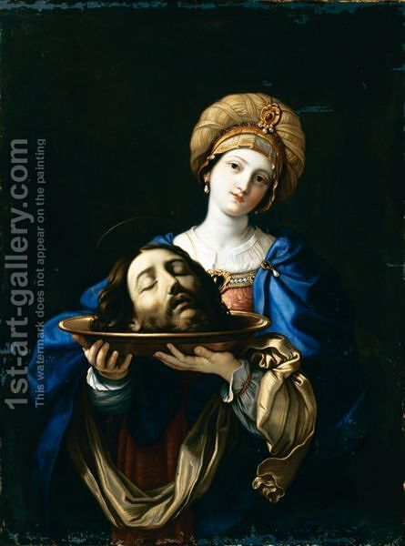 Salome Con La Testa Del Battista by (after) Guido Reni - Reproduction Oil Painting