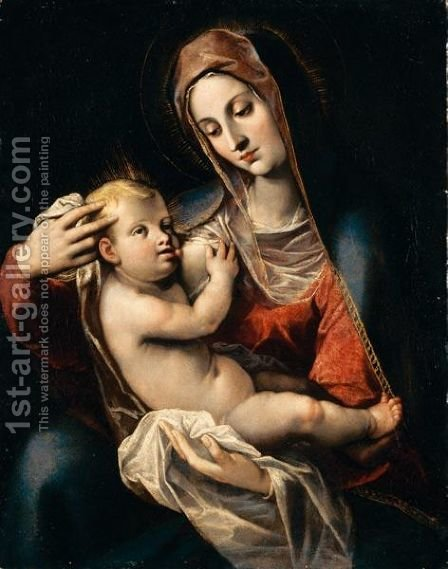 Madonna Col Bambino by (after) Scipione Pulzone - Reproduction Oil Painting