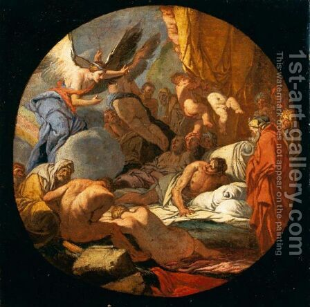 Il Regno Di Hypnos, Dio Del Sonno by (after) Giulio Carpioni - Reproduction Oil Painting