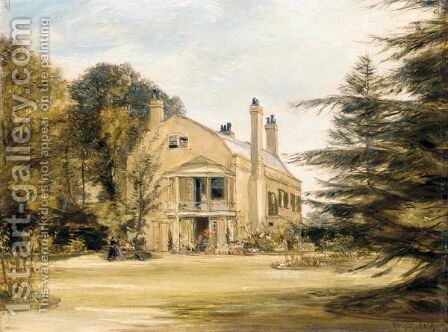 Mrs Hixon's House, Croydon by James Holland - Reproduction Oil Painting