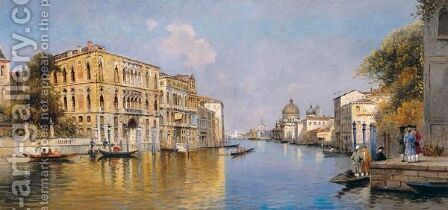 Canal Grande, Venecia (The Grand Canal, Venice) by Antonio Maria de Reyna - Reproduction Oil Painting