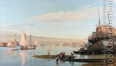 The Approach To The Grand Canal, Venice by August Andreas Jerndorff - Reproduction Oil Painting
