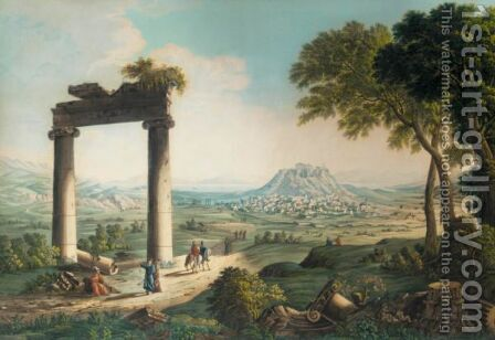 View Of Athens by (after) Louis-Francois Cassas - Reproduction Oil Painting