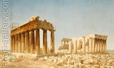 View Of The Acropolis by Constant Moyaux - Reproduction Oil Painting