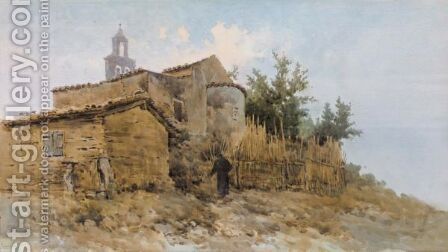 Going To Church by Angelos Giallina - Reproduction Oil Painting