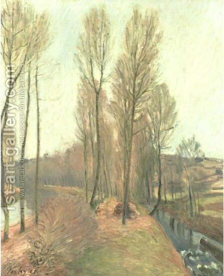 L'Orvanne Et Le Canal Du Loing En Hiver by Alfred Sisley - Reproduction Oil Painting