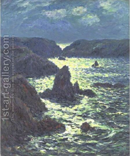 Rochers De Goulphar by Henri Moret - Reproduction Oil Painting