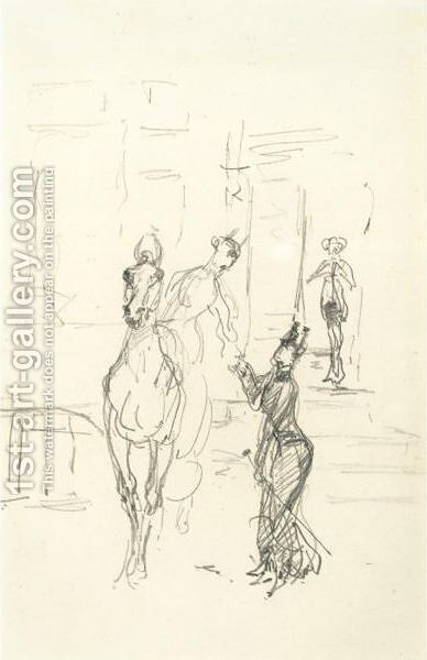 Amazones by Toulouse-Lautrec - Reproduction Oil Painting