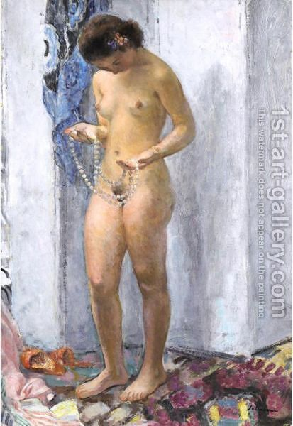 Nu Au Collier De Perles by Henri Lebasque - Reproduction Oil Painting