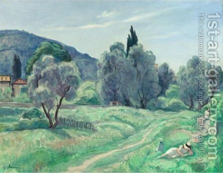 Les Oliviers, Le Matin by Henri Lebasque - Reproduction Oil Painting
