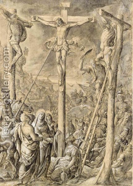 The Crucifixion by Hans Bol - Reproduction Oil Painting