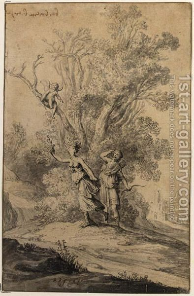 Apollo And Daphne by Bartholomeus Breenbergh - Reproduction Oil Painting