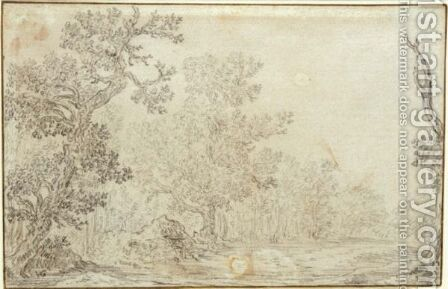 View Of A Clearing In A Wood by Jan van Goyen - Reproduction Oil Painting