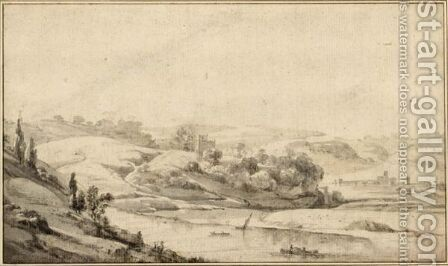 View Of The Tiber Valley, With The Ponte Molle In The Distance by Jan Asselijn - Reproduction Oil Painting