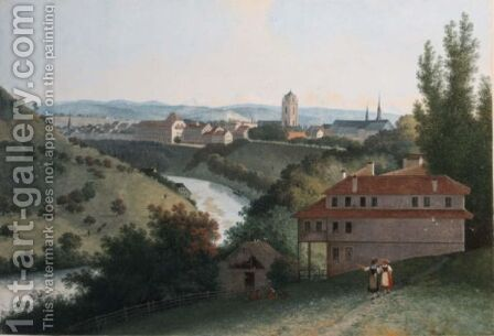 View Of Bern by Henri Knip - Reproduction Oil Painting