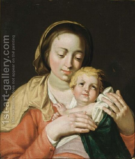 The Madonna And Child by (after) Abraham Bloemaert - Reproduction Oil Painting
