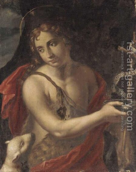 Saint John The Baptist 2 by Italian School - Reproduction Oil Painting
